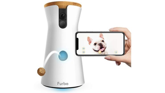 The Furbo lets you spy on your pets and reward good behavior from afar.