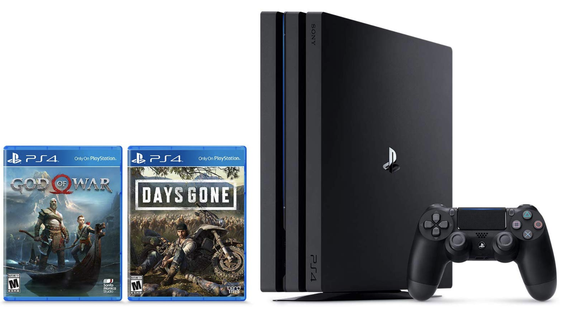 PS4 Pro with God of War and Days Gone