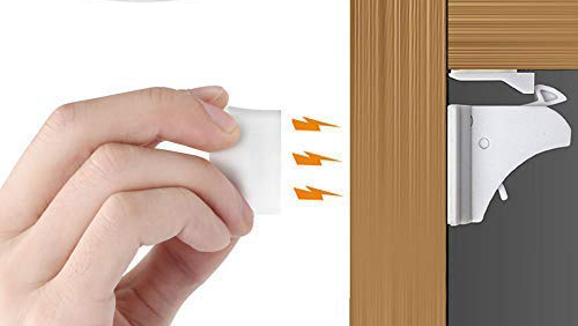 Easy-to-install cabinet locks make baby-proofing a breeze