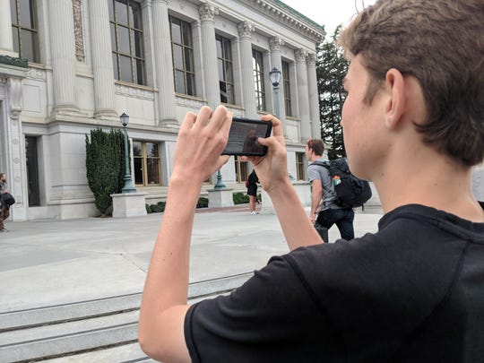 Aren Elliott uses his trusty Google Pixel 2 to shoot a building at the University of California, Berkeley, in 2018.