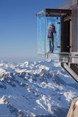 With its glass floor, Step Into the Void allows visitors to peer over a 3,200-foot precipice from Aiguille du Midi.