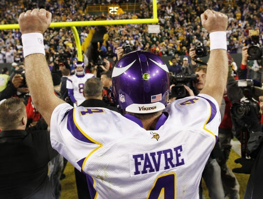 Brett Favre beat his former team twice in 2009.