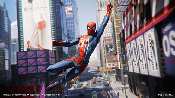 A screenshot from the Spider Man PS4 Game