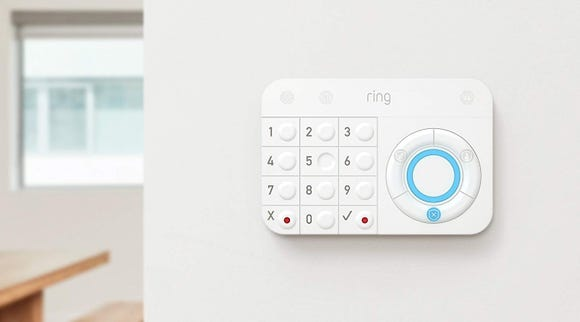 The Ring Alarm 14-piece kit can be controlled using an Alexa-enabled smart speaker.