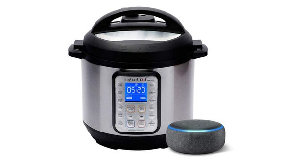 The Instant Pot Smart WiFi Pressure Cooker can be controlled with Alexa.