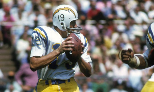 Johnny Unitas threw for just 471 yards in five games for the Chargers in 1973.