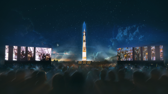 "A rendering of the ""Apollo 50: Go for the Moon"" projection."