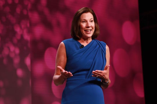 KPMG U.S. Chairman and CEO Lynne Doughtie discusses key study findings at the 2019 KPMG Women's Leadership Summit.