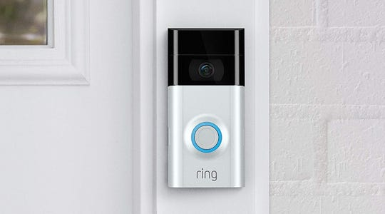 The Ring Video Doorbell 2 comes with a rechargeable battery pack or can be connected to your existing doorbell wires.