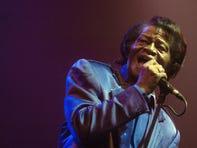 """Legendary singer James Brown, """"Godfather of Soul,"""" on tour in Prague, November 2006."""