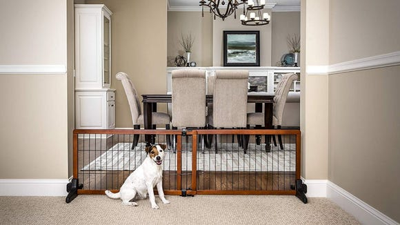 This pet gate looks great—and costs less on Prime Day, for a limited time only.