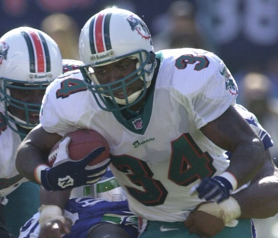 Thurman Thomas spent 12 seasons with the Bills before joining the Dolphins.