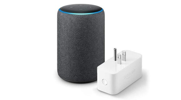 The Echo Plus (2 gen) includes an Amazon Smart Plug to connect your home.