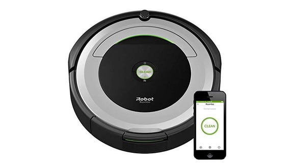 The iRobot Roomba 690 can sync up with Alexa.