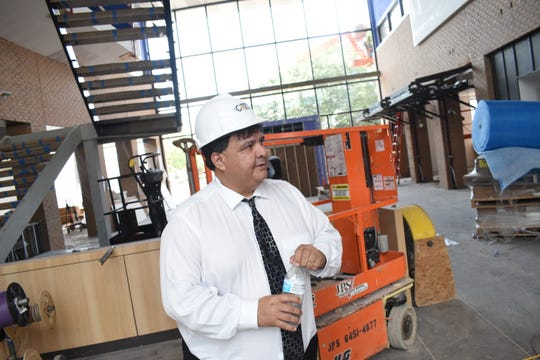 Jimmy Sawtelle, chancellor of Central Louisiana Technical Community College, gives a tour of the downtown campus Tuesday, July 16, 2019. Two buildings, the Alexandria Campus located on Murray and 5th Streets and the other, the former McCormick building on Main Street near the Red River, will be ready for the 2019 fall semester.