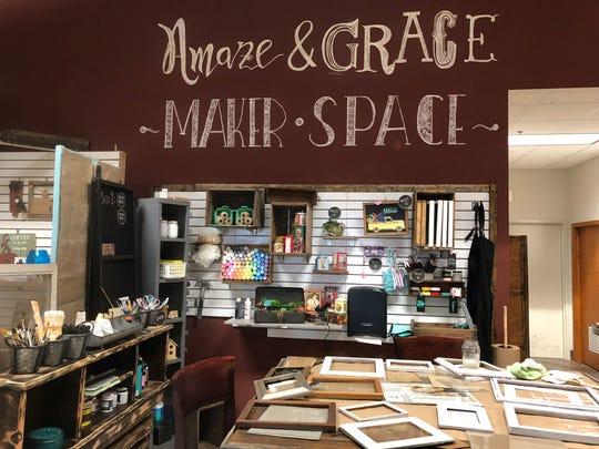 "Amaze & Grace's ""maker space"" in Grand Chute."