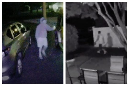 Wall police have released still images of one or more men who were seen on surveillance camera footage Sunday and Monday nights.