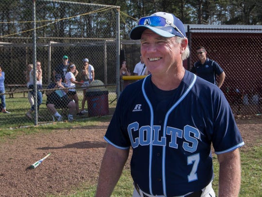 Marty Kenney, shown after winning his 800th game in April 2018, has concluded his legendary 46-year career as Christian Brothers Academy's head baseball coach