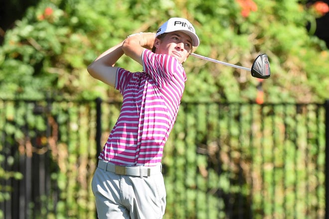 Abilene's Karson Grigsby competes during the first round of the 2019 AJGA Folds of Honor Junior Championship hosted by Bob Estes at the Abilene Country Club - South Course on Tuesday, July 16, 2019.