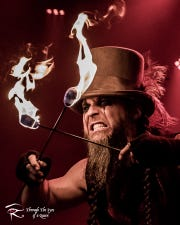 "Bryce ""The Govna"" Graves, founder, producer and performer for Hellzapoppin Circus SideShow Revue."