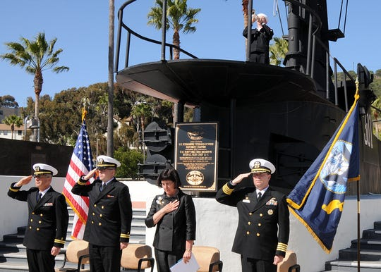 The Navy honored the 50th anniversary of the loss of the USS Thresher in April 2013. The ceremony honored the 129 men lost on Thresher, which sank off the coast of Cape Cod April 10, 1963, during sea trials.