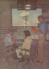 In this 1974 photo, personnel at Corpus Christi's manned space flight tracking station wait for Skylab's splashdown. The site tracked spacecraft between 1961 and 1974.