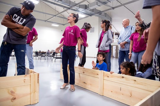 Layan Abu-Baker, center, 13, reacts as her team's robot compete during a summer Corpus Christi Prefreshman Engineering Program at Del Mar College demonstration on Tuesday, July 16, 2019.