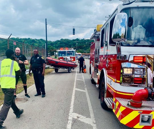 Cincinnati police and fire rescued a child who had fallen into the Mill Creek Tuesday afternoon.