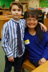 Luan Le, a One to One volunteer, worked with Zane Radank a second grader at Florence Elementary.