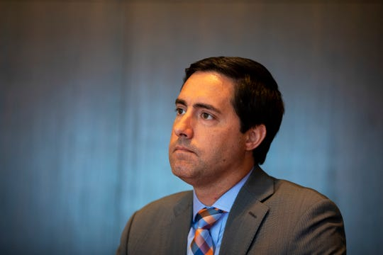 Frank LaRose, Ohio Secretary of State, meets with The Enquirer's editorial board Tuesday, July 16, 2019 in downtown Cincinnati.