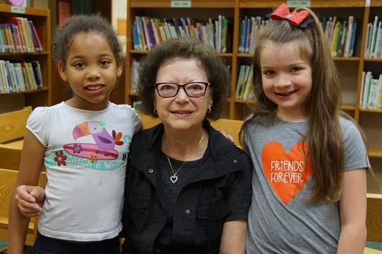 Pat humble, a One to One volunteer, worked with Skyler Thompson and Bryleigh Ballman both second graders at Florence Elementary.