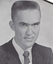 Gray Settle's senior photo, from the Stewart County High School yearbook in 1958.