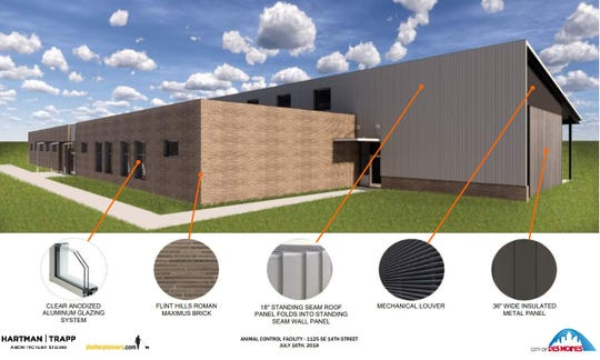 Des Moines will build a new $5.5 million, 17,000-square-foot animal control shelter to replace its current under-sized facility.