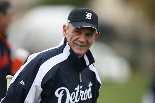 Tigers Manager Jim Leyland on the first day of Tiger Spring Training in Lakeland, Florida on Friday February 16, 2007.