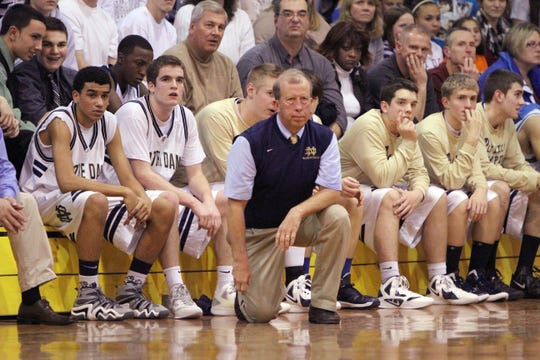 The Elmira Notre Dame boys basketball team, coached by Bill Hopkins, won its first Section 4 title in six years with a 60-54 victory over Groton in 2012.