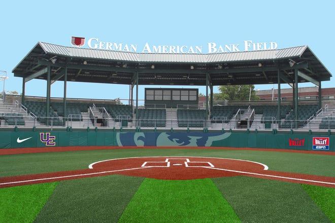 Rendition of German American Bank Field at Charles H. Braun Stadium.