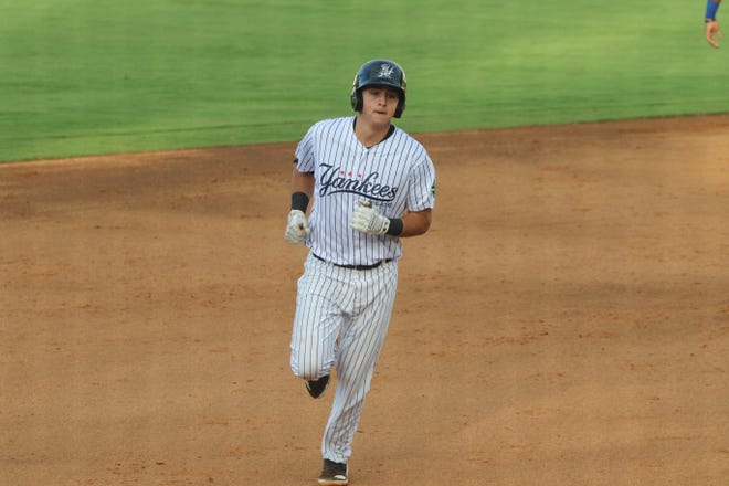 Rocky Mountain graduate Chad Bell, shown last season with the Pulaski Yankees, is in quarantine in Florida due to two positive coronavirus cases in the Yankees minor league system.