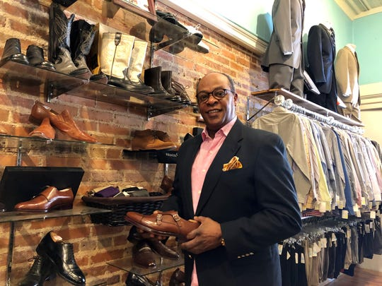 James Carter, owner of Empire Limited Haberdashery & Tuxedos in downtown Greer