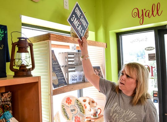 Angel Rice, owner of Under the Carolina Moon in Easley, talks about giving back to the community and expanding their store at a new location inside the city limits of Easley.