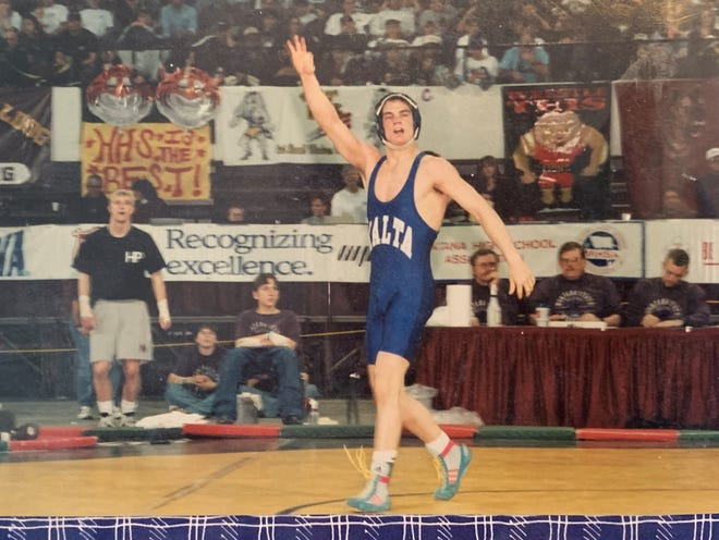 Kris LaBrie won three state championships during a brilliant mat career for the Malta Mustangs.