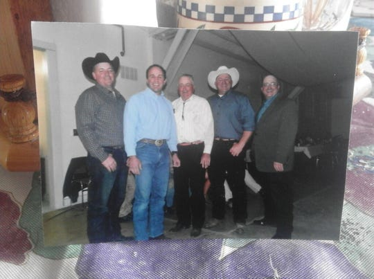 Pictured are lifelong Malta rancher Bill French (center) with his four wrestling sons. From left, are Mark, Steve, Craig and Roger.