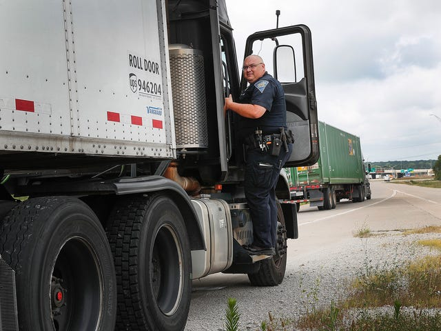 How Indiana State Police are using a 'ghost truck' to issue