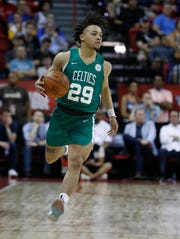 Celtics guard Carsen Edwards impressed with his 3-point stroke in Las Vegas.