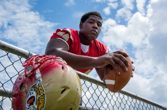 Montra Edwards Jr., of Lexington, plays defensive line at Holmes County Central High.