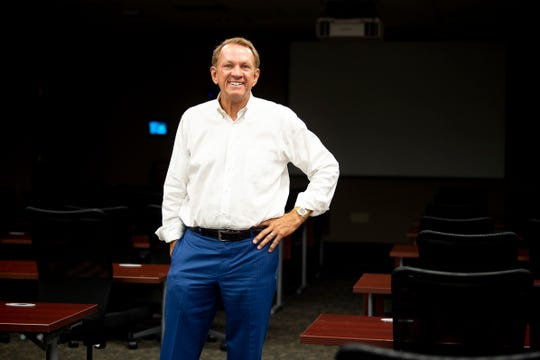 Dr. Randal Dabbs, co-founder and president of practice development at TeamHealth, inside one of the classrooms at the Papermill Drive offices in Knoxville, Tennessee on Tuesday, July 16, 2019. Dabbs has been named the Lifetime Achievement Award winner in this year's Health Care Heroes awards program.