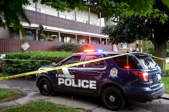 Lansing police responded to the scene of a homicide at an apartment complex on South Pennsylvania Avenue north of Jolly Road on Tuesday, July 16, 2019, in Lansing.