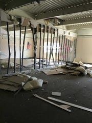 Demolition of classrooms in Cedarburg High School's technology education wing is taking place.