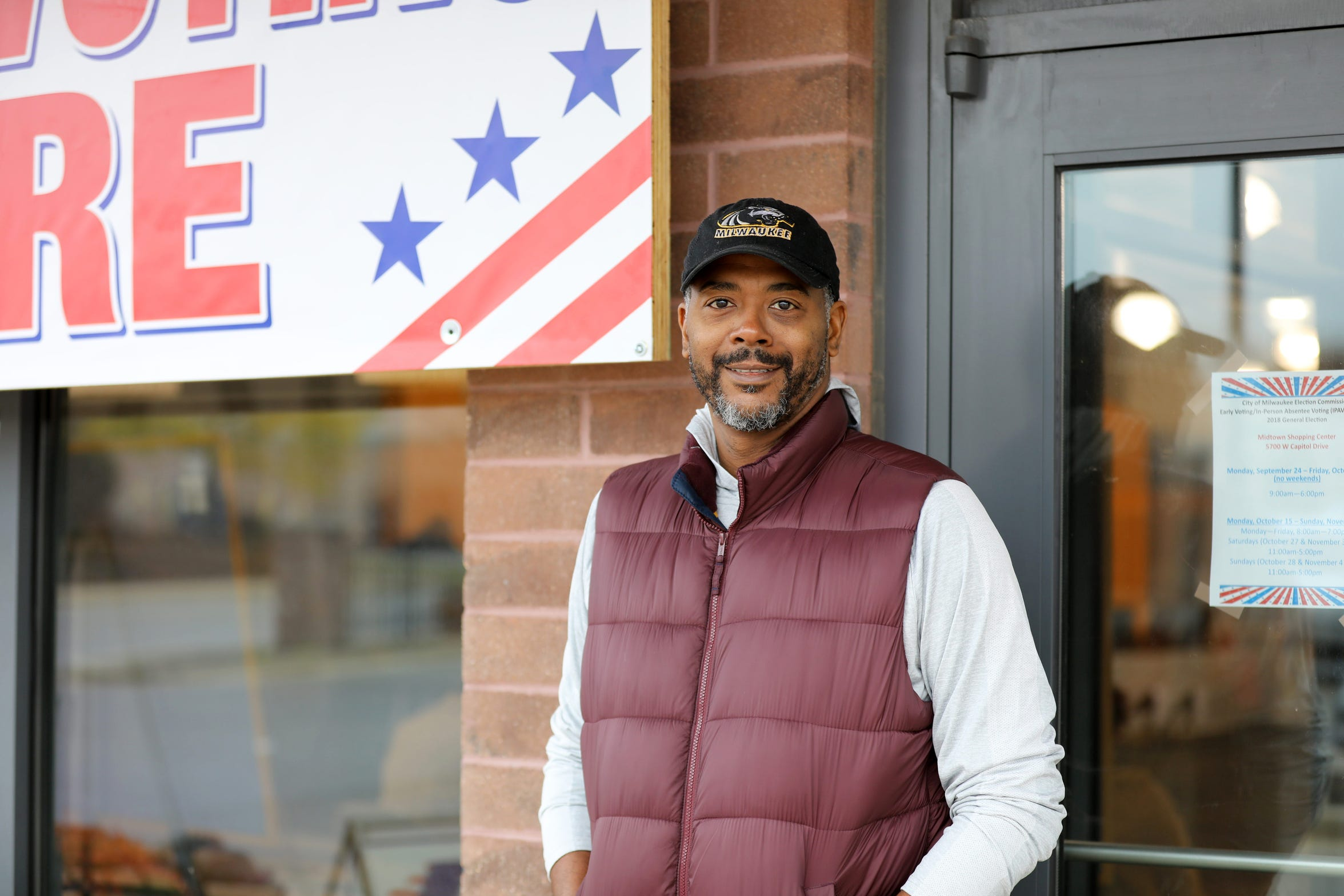 Racial equity is the biggest reason Milwaukee resident Marlon Rockett supports marijuana legalization. Milwaukee County's non-binding marijuana legalization referendum motivated Rockett to cast an early ballot in the 2018 midterms. In 2018, blacks were four times as likely to be arrested for marijuana possession in Wisconsin as whites, statistics show. Rockett is seen outside of an early voting location at Midtown Shopping Center in Milwaukee on Oct. 28.
