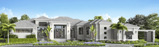 McGarvey Custom Homes' Fontaine floor plan is the newest furnished model to be available in the gated, luxury community of Quail West.