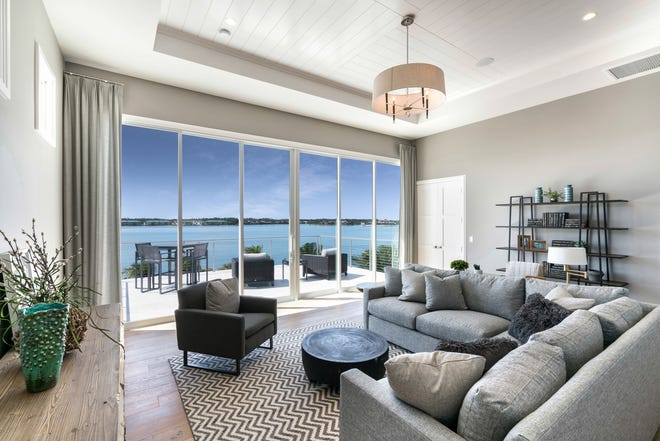 The furnished Sabbia model in Sardinia at Miromar Lakes Beach & Golf Club is attracting record homebuyer traffic.